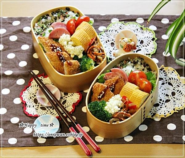 白身魚フライ弁当とおうちごはん♪_f0348032_18042744.jpg