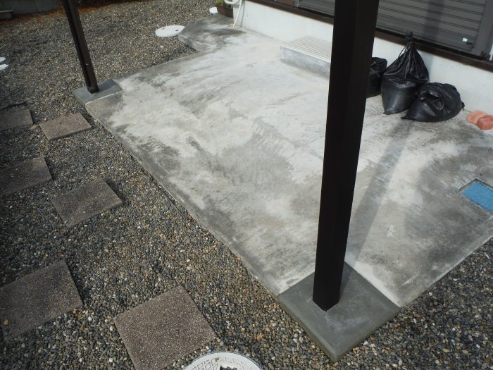 テラス屋根取替 ~ 工事終了です。_d0165368_05134083.jpg