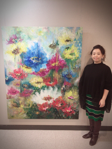 中村真由美 個展「自在の花〜グランブーケ〜」_d0235276_16173228.jpg