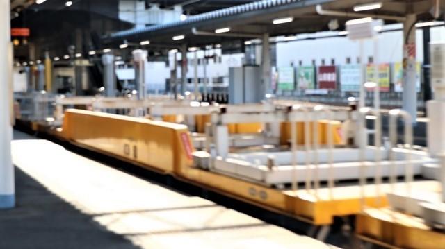 藤田八束の鉄道写真@東北本線宮城県JR名取駅はサッポロビール園前にあります。貨物列車「金太郎」が頑張っています・・・サッポロビールはこの貨物列車をもっと効果的使うと良い・・・貨物列車をコマーシャル様_d0181492_17565533.jpg