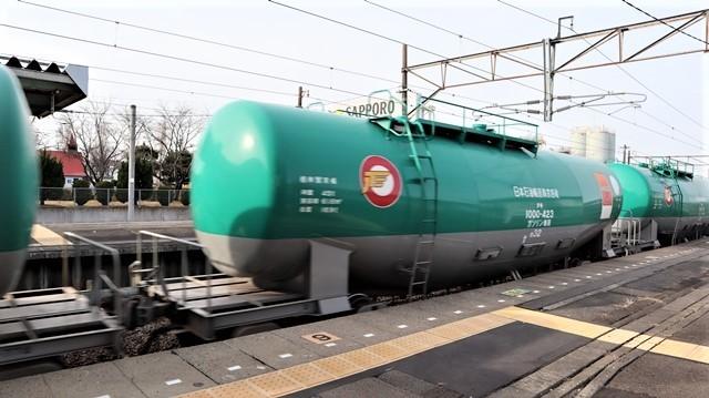 藤田八束の鉄道写真@東北本線宮城県JR名取駅はサッポロビール園前にあります。貨物列車「金太郎」が頑張っています・・・サッポロビールはこの貨物列車をもっと効果的使うと良い・・・貨物列車をコマーシャル様_d0181492_18003619.jpg