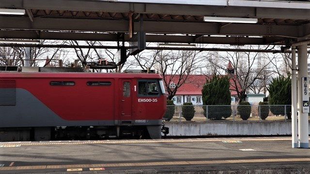 藤田八束の鉄道写真@東北本線宮城県JR名取駅はサッポロビール園前にあります。貨物列車「金太郎」が頑張っています・・・サッポロビールはこの貨物列車をもっと効果的使うと良い・・・貨物列車をコマーシャル様_d0181492_18004744.jpg