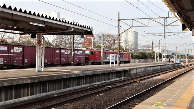 藤田八束の鉄道写真@東北本線宮城県JR名取駅はサッポロビール園前にあります。貨物列車「金太郎」が頑張っています・・・サッポロビールはこの貨物列車をもっと効果的使うと良い・・・貨物列車をコマーシャル様_d0181492_18012819.jpg