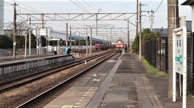 藤田八束の鉄道写真@東北本線宮城県JR名取駅はサッポロビール園前にあります。貨物列車「金太郎」が頑張っています・・・サッポロビールはこの貨物列車をもっと効果的使うと良い・・・貨物列車をコマーシャル様_d0181492_18021976.jpg