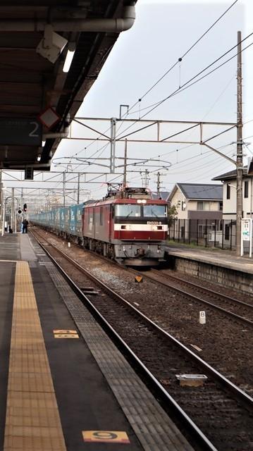 藤田八束の鉄道写真@東北本線宮城県JR名取駅はサッポロビール園前にあります。貨物列車「金太郎」が頑張っています・・・サッポロビールはこの貨物列車をもっと効果的使うと良い・・・貨物列車をコマーシャル様_d0181492_18054589.jpg