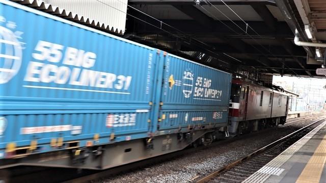 藤田八束の鉄道写真@東北本線宮城県JR名取駅はサッポロビール園前にあります。貨物列車「金太郎」が頑張っています・・・サッポロビールはこの貨物列車をもっと効果的使うと良い・・・貨物列車をコマーシャル様_d0181492_18055907.jpg