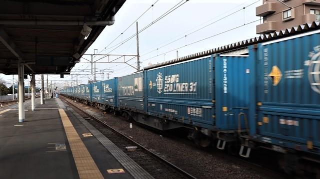 藤田八束の鉄道写真@東北本線宮城県JR名取駅はサッポロビール園前にあります。貨物列車「金太郎」が頑張っています・・・サッポロビールはこの貨物列車をもっと効果的使うと良い・・・貨物列車をコマーシャル様_d0181492_18062439.jpg