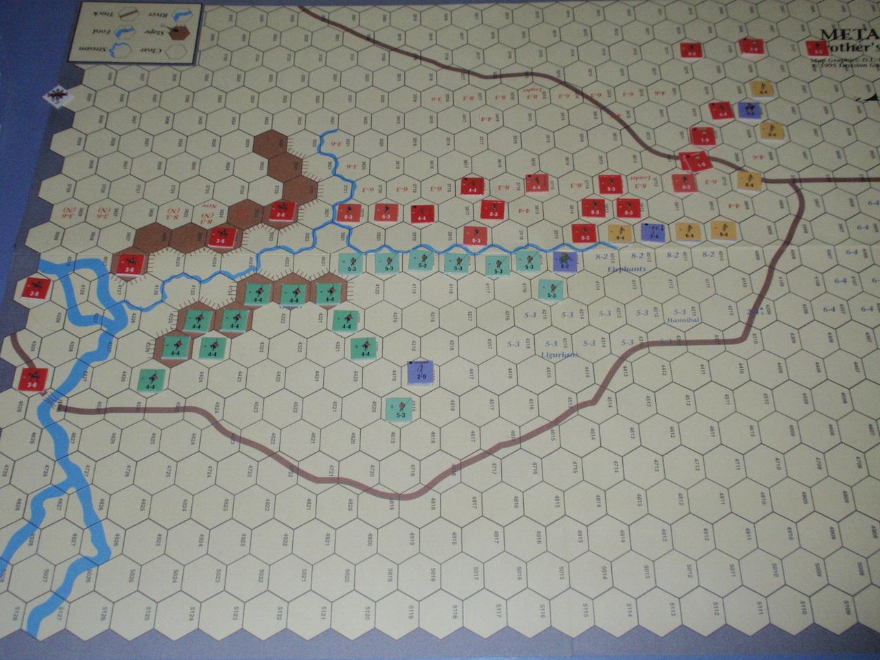 DG「Battles of the Ancient World」シリーズから「Metauras 207B.C.」をソロプレイ③_b0162202_1942337.jpg