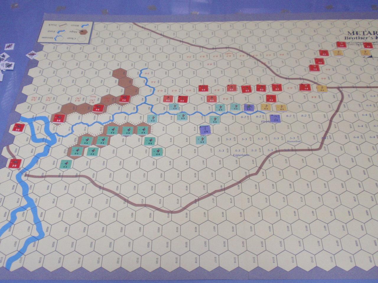 DG「Battles of the Ancient World」シリーズから「Metauras 207B.C.」をソロプレイ③_b0162202_19425510.jpg