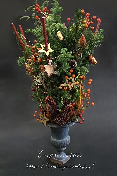 定期装花 クリスマスデザイン 2_a0085317_15053589.jpg
