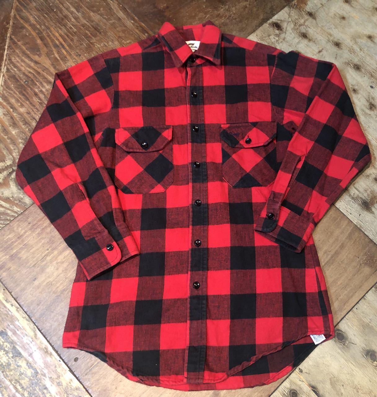 12月21日(土)入荷!80s〜Made in U.S.A DUXBAK ブロックチェック ネルシャツ!_c0144020_13582273.jpg