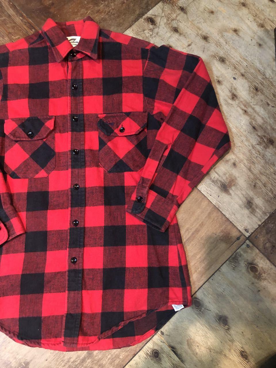 12月21日(土)入荷!80s〜Made in U.S.A DUXBAK ブロックチェック ネルシャツ!_c0144020_13582385.jpg