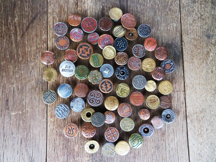 Vintage Work Brand Metal Buttons_e0187362_18112285.jpg