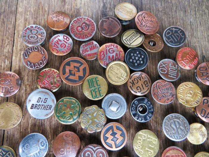 Vintage Work Brand Metal Buttons_e0187362_18115904.jpg