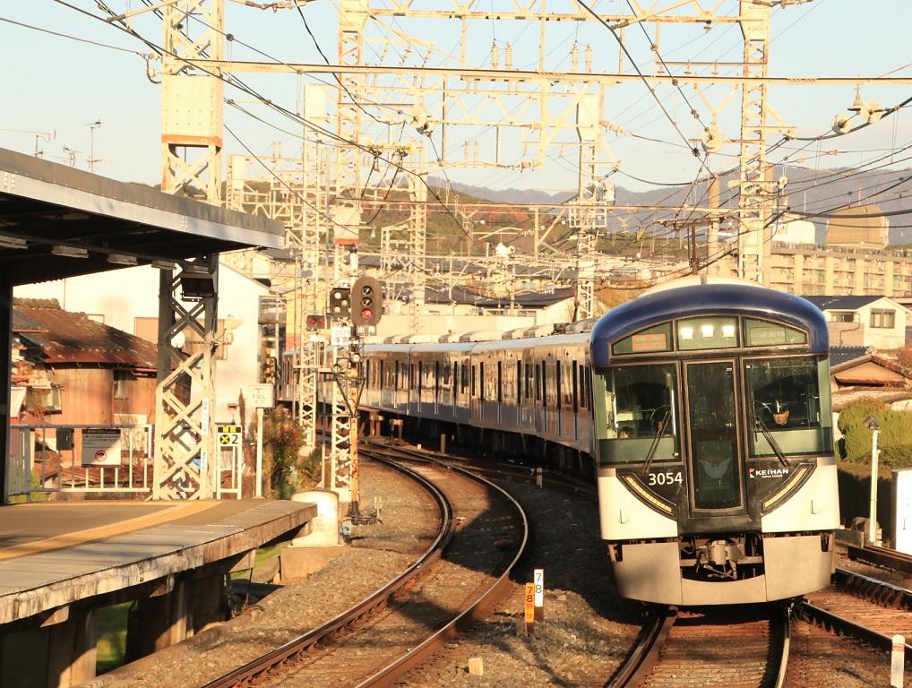 京阪3000系 中書島撮り鉄_d0202264_4281358.jpg