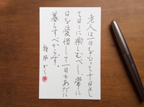 [競書2019.12]半紙4点+ペンはがき_d0285885_23374970.jpeg