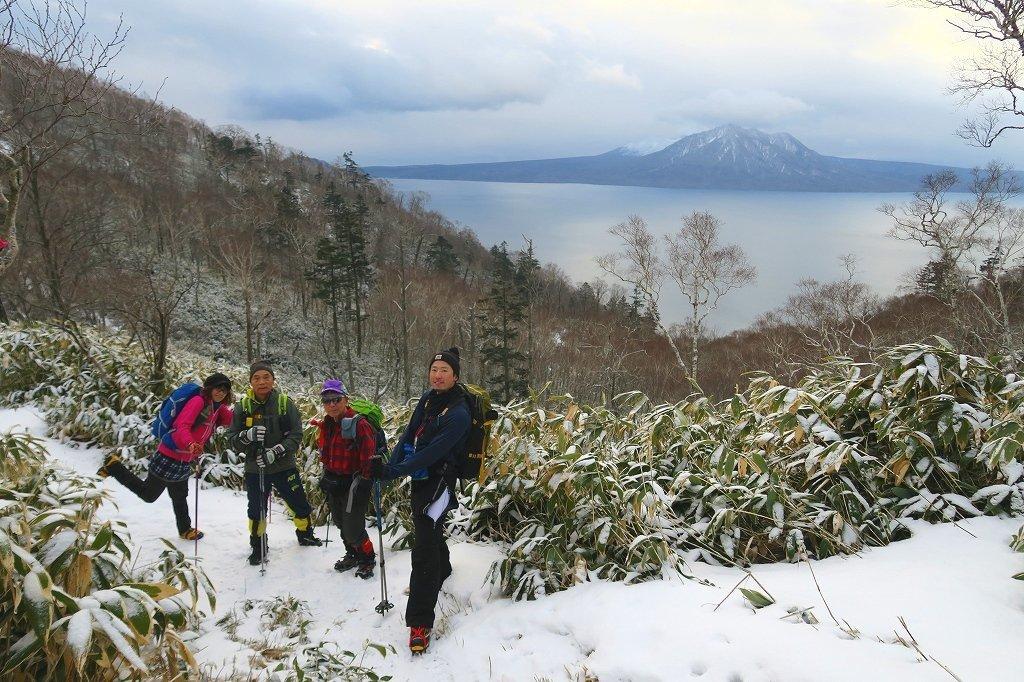 雪の少ないイチャンコッペ山、2019.12.20_f0138096_21585199.jpg
