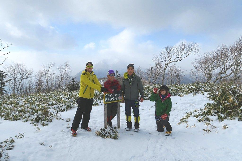 雪の少ないイチャンコッペ山、2019.12.20_f0138096_22002259.jpg