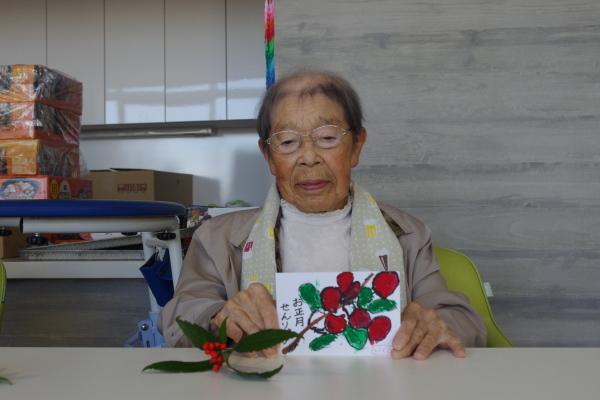 12月絵手紙教室_f0299108_11203317.jpg