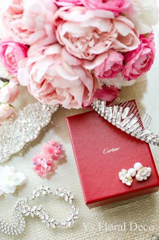 ハワイ挙式の新婦さんへ ピンク色のクラッチブーケ_b0113510_16580066.jpg