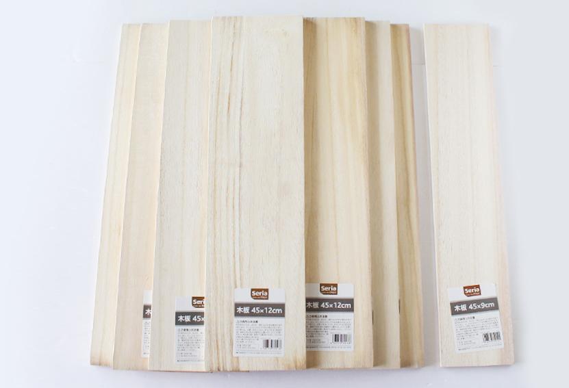 セリアの木板で「古道具風の木製ラック」を簡単DIY_d0351435_08441147.jpg