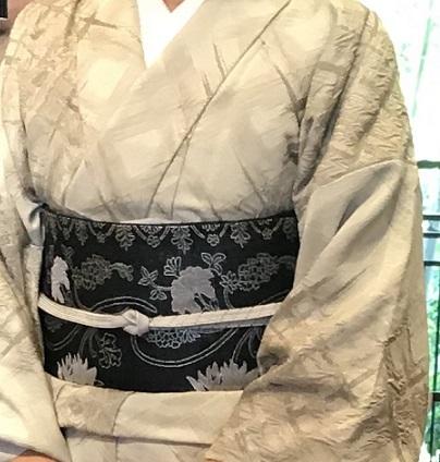 11周年・千地泰弘さんの着物と帯・お嫁入りの雪輪の訪問着。_f0181251_16212141.jpg