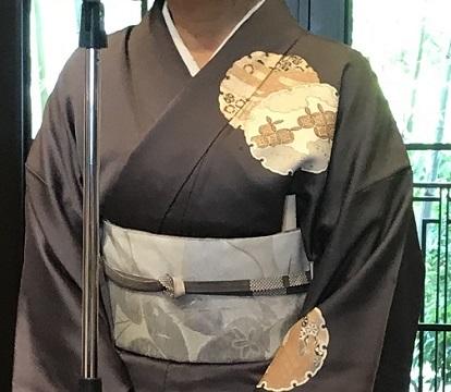 11周年・千地泰弘さんの着物と帯・お嫁入りの雪輪の訪問着。_f0181251_16273173.jpg