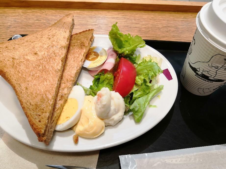 品川駅構内のTamealsにてトースト&サラダで朝御飯~☆_a0004752_16235074.jpg
