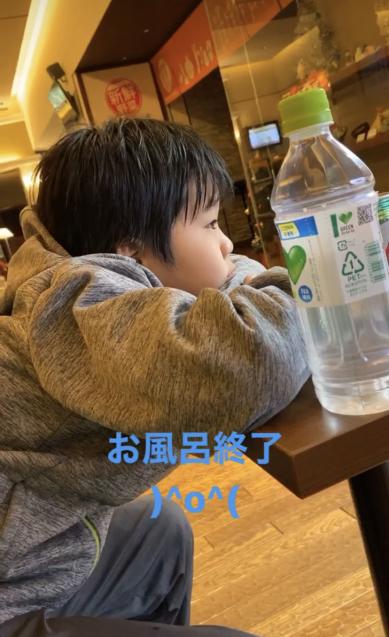 息子と朝風呂_c0023278_19030390.jpg