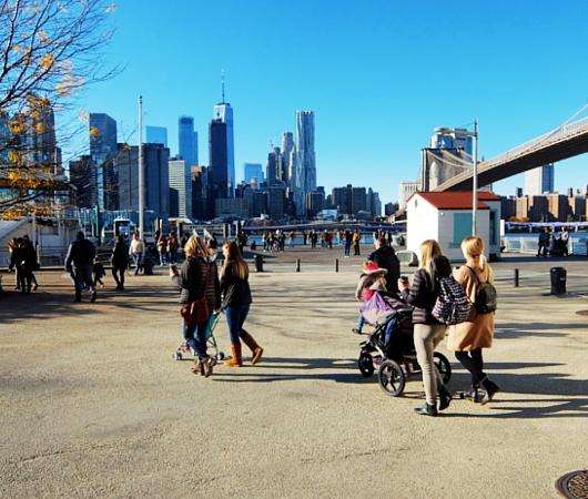 ブルックリン・ブリッジ横のボードウォークから見る摩天楼_b0007805_09194866.jpg