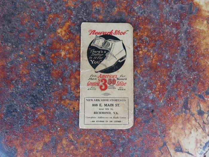 Vintage Newark Shoe Timebook_e0187362_12415133.jpg