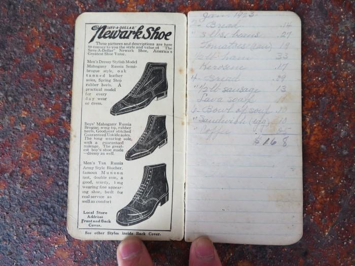 Vintage Newark Shoe Timebook_e0187362_12420996.jpg