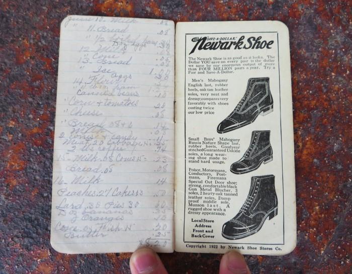 Vintage Newark Shoe Timebook_e0187362_12435325.jpg