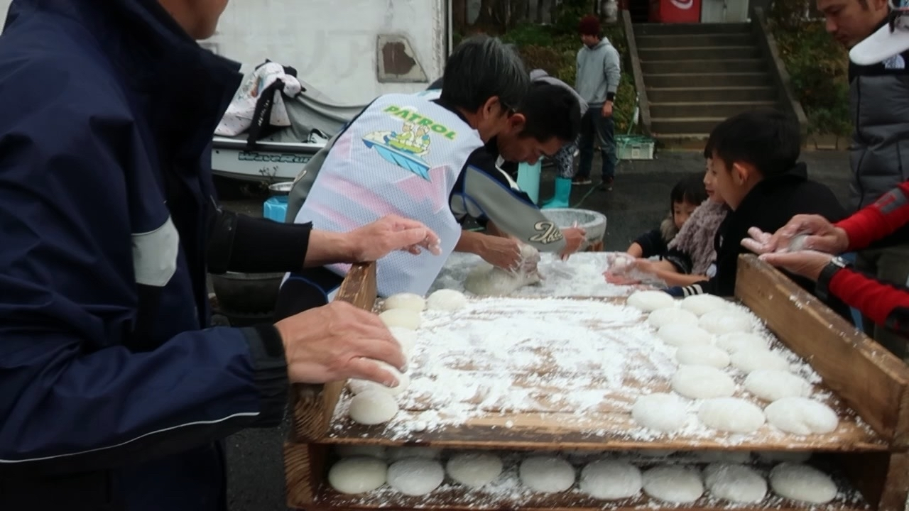 いまりマリーナで餅つき会♬_a0077071_14325581.jpg