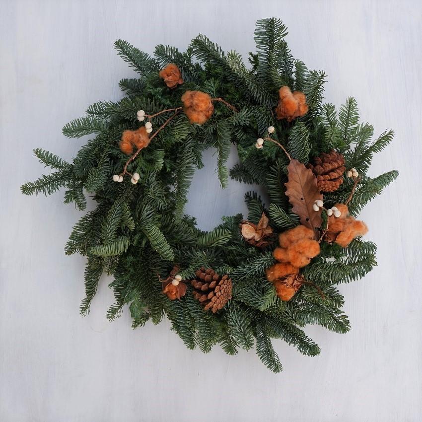 オークリーフ(今年のクリスマスリース)_f0049672_16570624.jpg