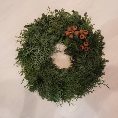 オークリーフ(今年のクリスマスリース)_f0049672_16572308.jpg