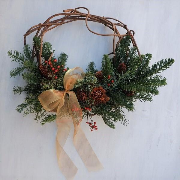 オークリーフ(今年のクリスマスリース)_f0049672_16572623.jpg