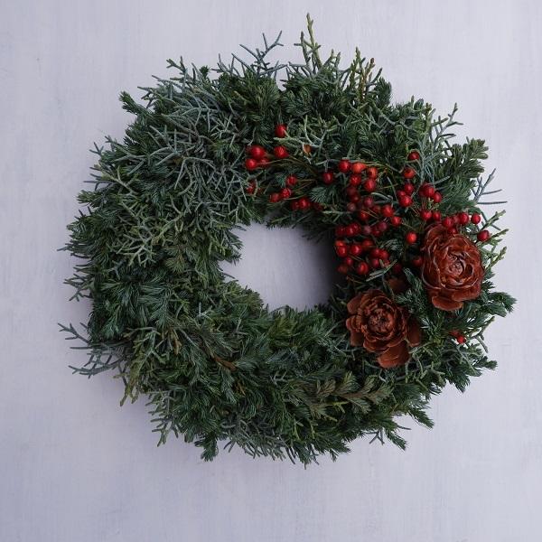 オークリーフ(今年のクリスマスリース)_f0049672_16573597.jpg