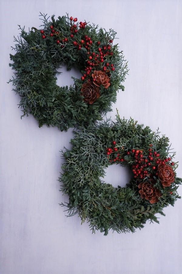 オークリーフ(今年のクリスマスリース)_f0049672_16573993.jpg