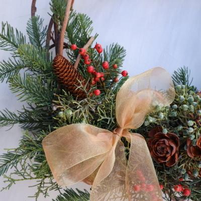 オークリーフ(今年のクリスマスリース)_f0049672_16575028.jpg