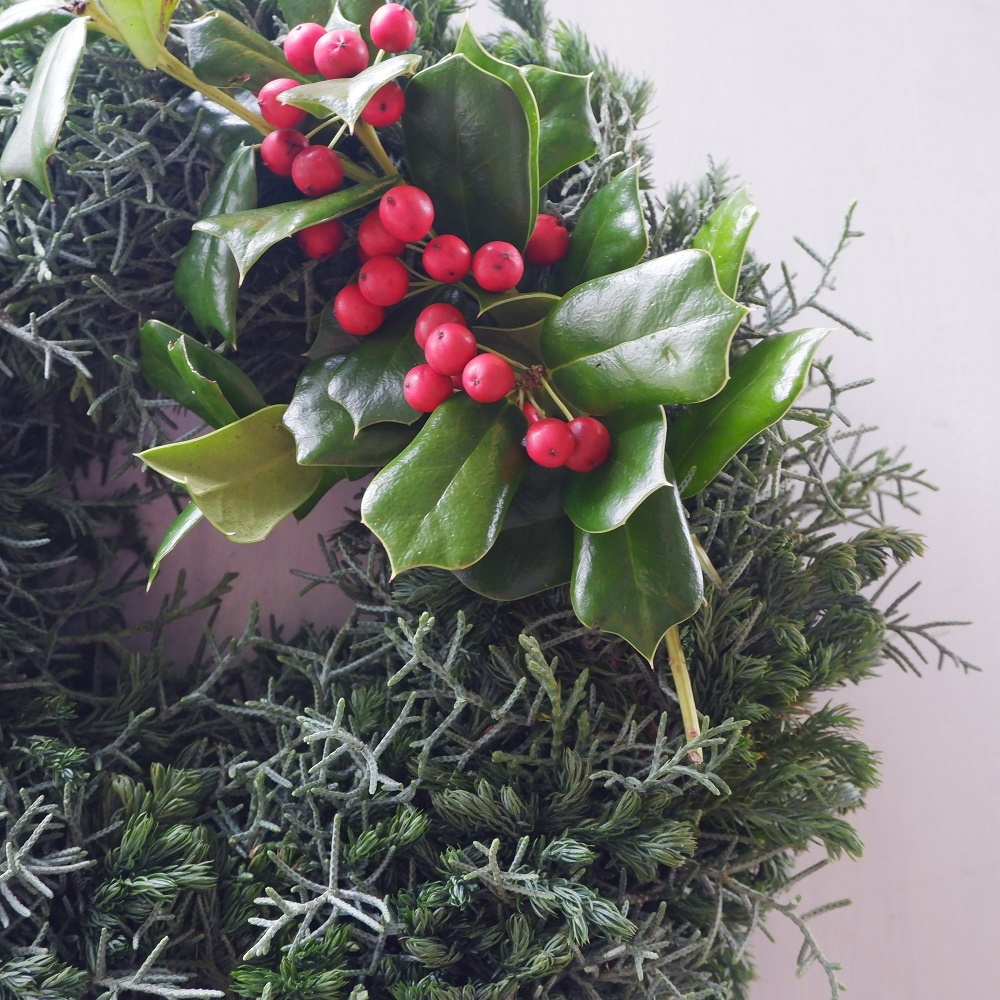 オークリーフ(今年のクリスマスリース)_f0049672_16580282.jpg