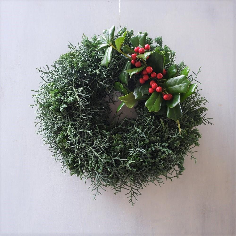 オークリーフ(今年のクリスマスリース)_f0049672_16580463.jpg