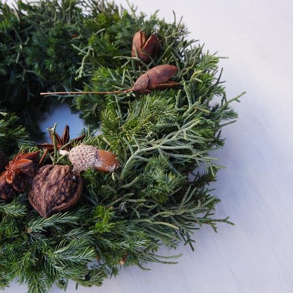 オークリーフ(今年のクリスマスリース)_f0049672_16582391.jpg