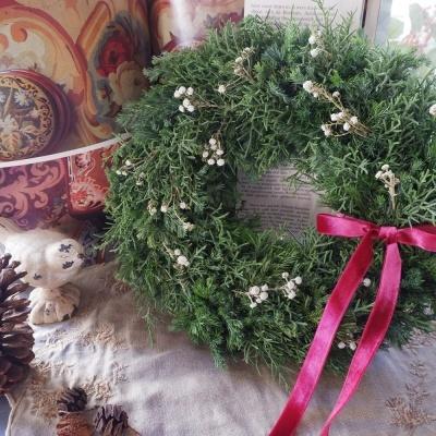 オークリーフ(今年のクリスマスリース)_f0049672_17120580.jpg