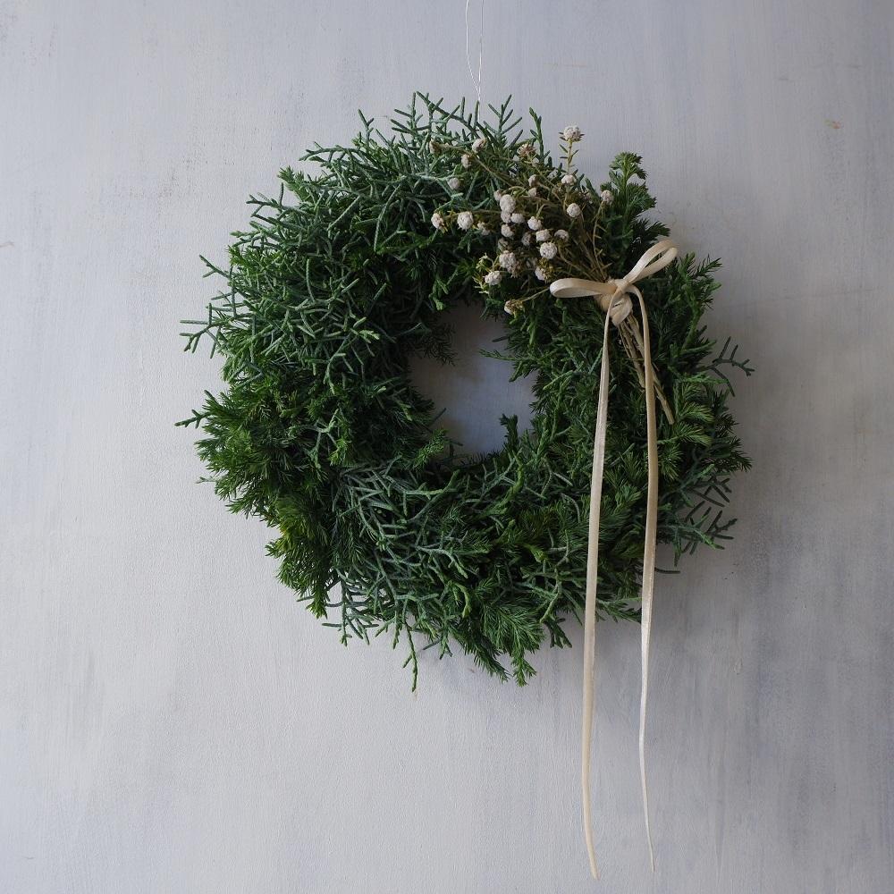 オークリーフ(今年のクリスマスリース)_f0049672_17123153.jpg