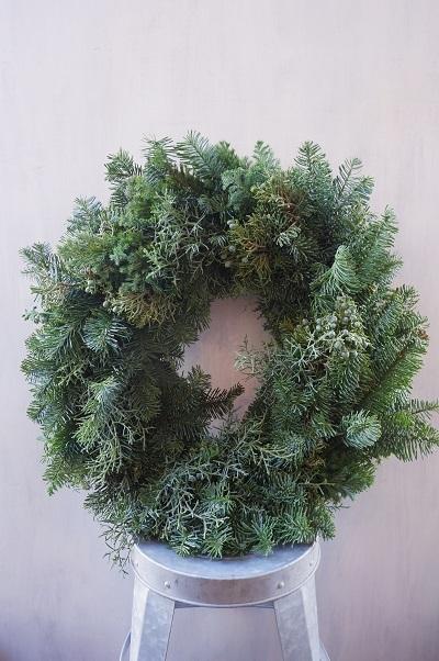 オークリーフ(今年のクリスマスリース)_f0049672_17291175.jpg