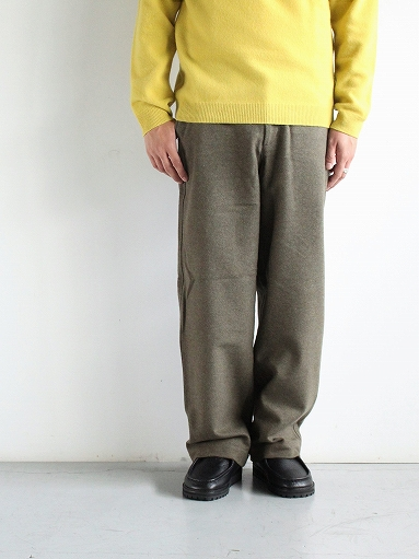 BRENA COQ PANTS - WASHABLE COTTON MELTON / OLIVE _b0139281_1441122.jpg