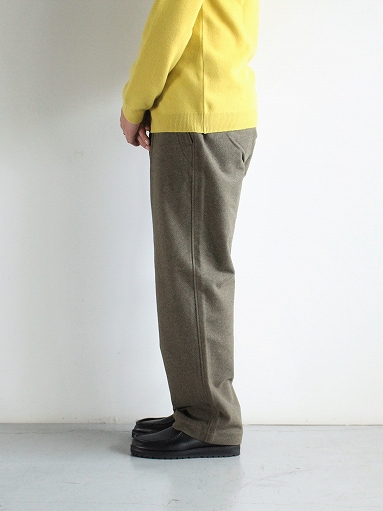 BRENA COQ PANTS - WASHABLE COTTON MELTON / OLIVE _b0139281_14423247.jpg