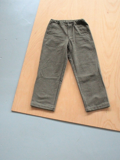 BRENA COQ PANTS - WASHABLE COTTON MELTON / OLIVE _b0139281_15475787.jpg