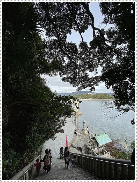 愛知県でのお出かけ その2 竹島海岸と竹島にある八百富神社 (11月24日)_b0175688_22053470.jpg